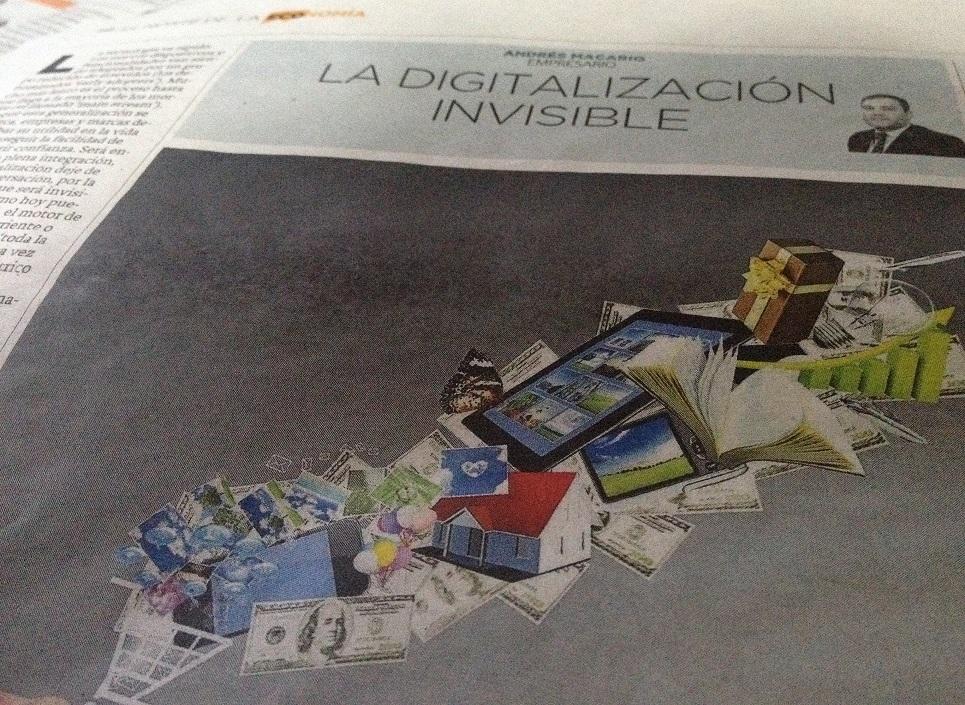 La digitalización invisible - articulo de Andrés Macario en El Norte de Castilla